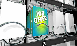 Job Offer Interview Candidate Career Vending Machine Royalty Free Stock Photos