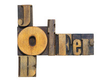 Job offer isol Stock Photography