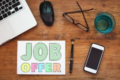 Job offer. Employment concept, find work Stock Photography