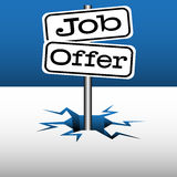 Job offer plates Royalty Free Stock Images
