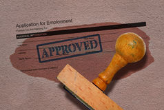 Job offer and stamp royalty free stock photography