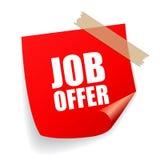 Job offer sticker Stock Image