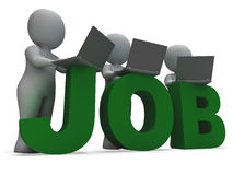 Job Online Showing Web Employment Search. For Vacancy Royalty Free Stock Photo