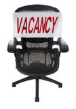 Job Opening. Ergonomic Office Chair with Vacancy Sign Royalty Free Stock Photography