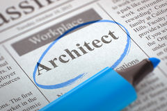 Job Opening Architect Lizenzfreies Stockfoto