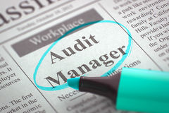 Job Opening Audit Manager 3d Imagens de Stock Royalty Free