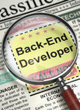 Job Opening Back-End Developer 3d Photos libres de droits