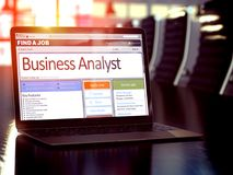 Job Opening Business Analyst. 3D. Business Analyst - Job Find Concept. Job Vacancy. 3D stock photography