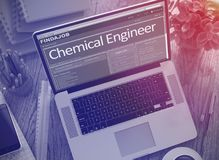 Job Opening Chemical Engineer 3d illustration stock