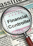 Job Opening Financial Controller. 3D. Royalty Free Stock Photo