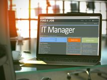 Job Opening-IT Manager 3d Stock Afbeelding