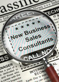 Job Opening New Business Sales Consultants. 3D. Royalty Free Stock Image