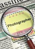 Job Opening Photographer. 3D. Royalty Free Stock Photography