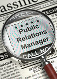 Job Opening Public Relations Manager 3d Photographie stock libre de droits