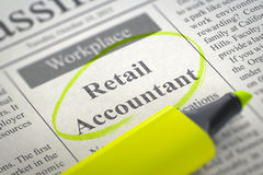 Job Opening Retail Accountant 3d Photo libre de droits