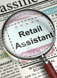 Job Opening Retail Assistant 3d Image stock