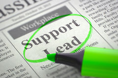 Job Opening Support Lead 3d Stockfoto