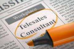 Job Opening Telesales Consultant 3d Stock Afbeeldingen