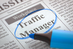 Job Opening Traffic Manager 3d foto de stock royalty free