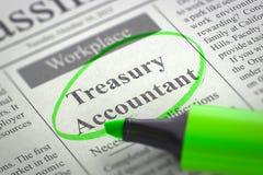 Job Opening Treasury Accountant. 3D. Royalty Free Stock Photo
