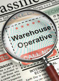Job Opening Warehouse Operative 3d Fotografie Stock