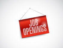 Job openings fabric textured hanging banner. Illustration design over white Stock Photo