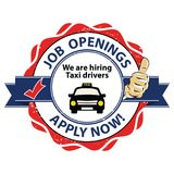 Job openings - We are hiring Taxi drivers - printable stamp / label Stock Photos