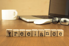 Job opportunities for freelance work from home Stock Images