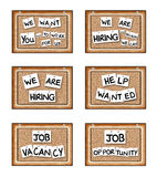 Job Opportunity Boards Stock Photo