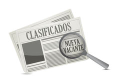 Job opportunity on a Newspaper in Spanish Royalty Free Stock Images