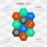 Job Outline Icons Set Collection de structure Image libre de droits
