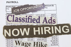 Job payroll Stock Photography