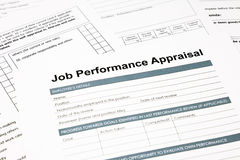 Job performance appraisal form for business royalty free stock photo