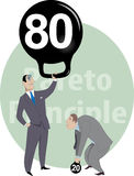 Job performance and Pareto principle Stock Images