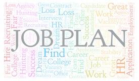 Job Plan-woordwolk royalty-vrije illustratie