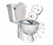 Job Position Unemployed Loss Laid Off Toilet Flush Down vector illustration