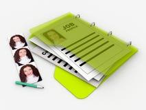 Job profile folder Stock Photography