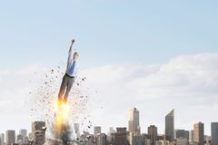 Job promotion concept stock photos