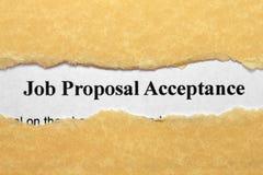 Job proposal Royalty Free Stock Photography
