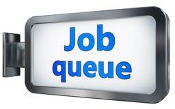 Job queue on billboard. Job queue wall light box billboard background , isolated on white Royalty Free Stock Photo