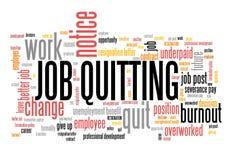 Job quitting stock illustration