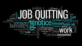 Job quitting Royalty Free Stock Image