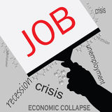 Job in recession icon vector Stock Images