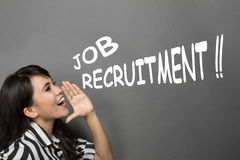 Job recruitment announcement Royalty Free Stock Photos