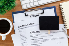 Job and recruitment concept Stock Images