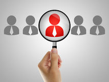 Job recruitment. Find the right people for job concept Stock Image