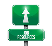 Job resources road sign illustration Royalty Free Stock Photo