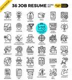 Job Resume Icons illustration de vecteur