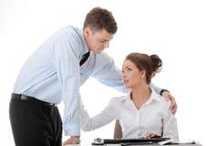 Job Romancekonzept Lizenzfreies Stockfoto