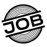 Job rubber stamp Stock Images